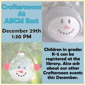 Crafternoons At ABCM East