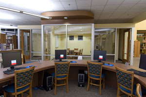 Study rooms in the public library