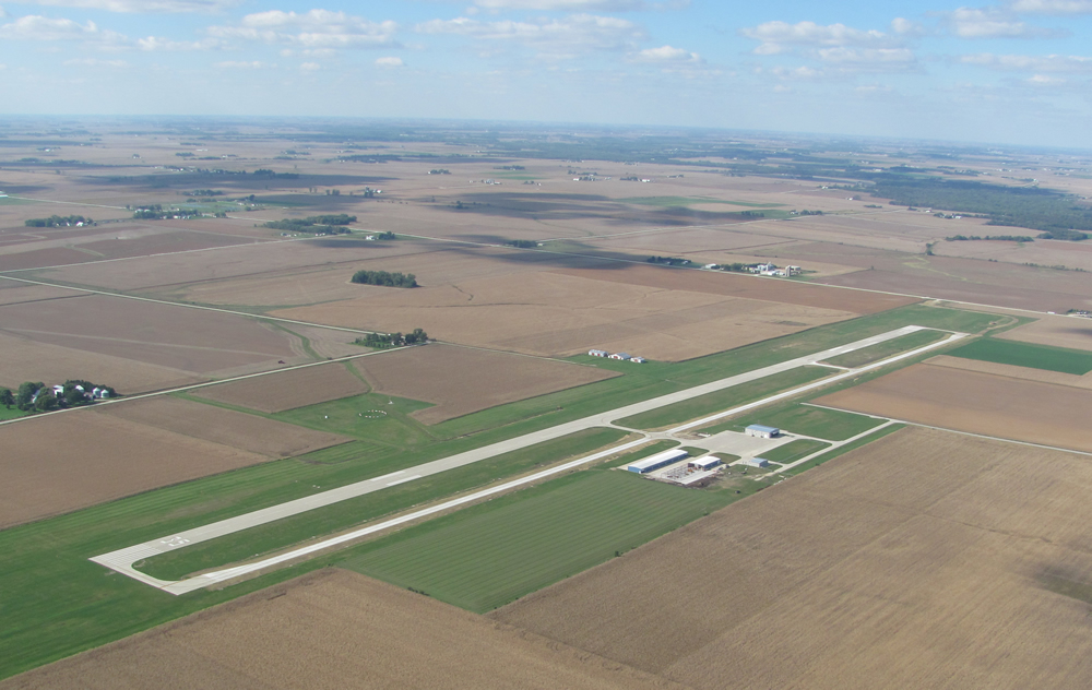 Independence Municipal Airport aerial shot