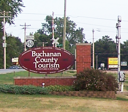 Buchanan County Tourism welcome sign