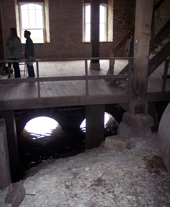View of below the Feed Mill